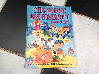 Vintage Original The Magic Roundabout Tv Show Annual Book 1972 Dougal Florence
