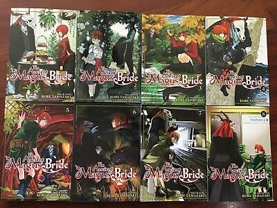 The Ancient Magus' Bride Lot volumes 1-8 English