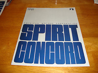 Original Vintage 1981 81 Amc Showroom  Brochure   Concord Sprit  Nos