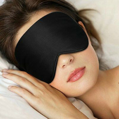 Sleep Eye Mask Skin-Friendly Pure Natural Silk Fabric Pure Cotton w/ Ear Plug