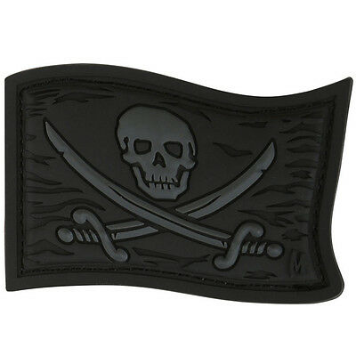 PVC Morale Patch - MAXPEDITION - JOLLY ROGER CALICO JACK Flag - STEALTH - NEW