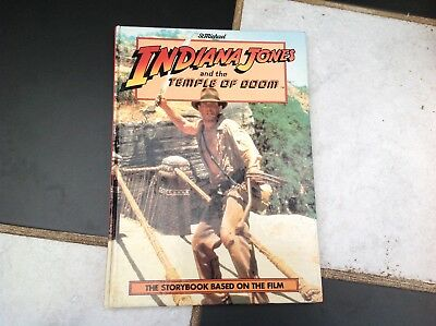 Vintage Original Indiana Jones And The Temple Of Doom Film Movie Storybook 1984