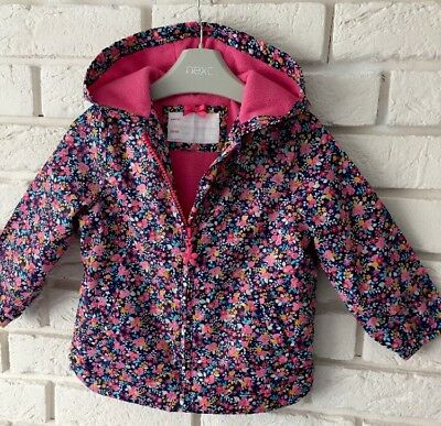 Baby Girl Mothercare Multi Floral Printed Raincoat Spring Summer Age 12-18 Month
