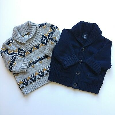 Baby Gap / Old Navy Boys 3-6 Month Sweater Cardigan Blue Gray