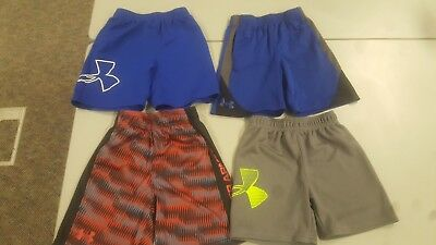 Kids Under Armour Shorts Size 3 and 4 - Lot of 4 Pair In Good Shape!!!