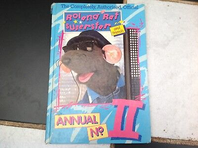 VINTAGE ORIGINAL ROLAND RAT SUPERSTAR TV SHOW ANNUAL No.II BOOK 1985 ERROL KEVIN