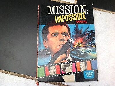 Vintage Original Mission Impossible Tv Show Annual Book 1968 Briggs Barney
