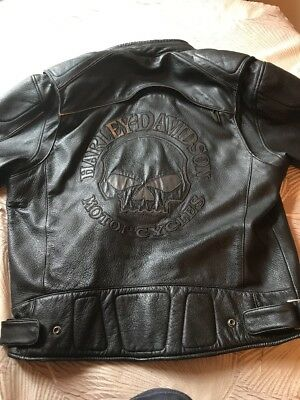 Harley Davidson Leather Jacket Willie G Great Condition Size Large