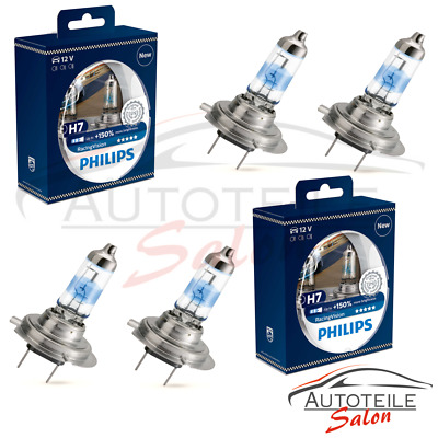 2x Doppelpack Philips RacingVision H7 +150% 12972RV+S2 Set DUO 4x H7 n