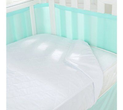Breathablebaby 3 in 1 Cot or Cot Bed Mattress Pad Topper Protector Waterproof