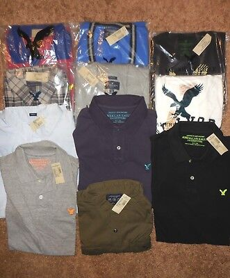 MEN'S 11 PIECE AMERICAN EAGLE CASUAL SHIRT LOT {MNIP} w/ TAGS SIZE 2X & XLT