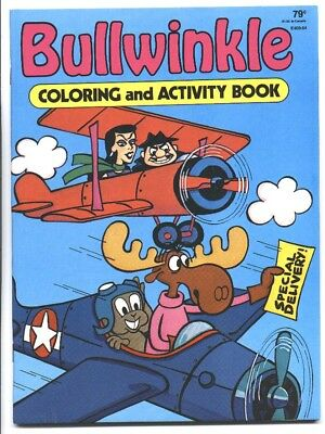 BULLWINKLE Coloring & Activity Book MINT 1985