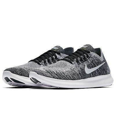NIKE FREE RN Flyknit 2017 Womens Running Shoes Black White 880844 ... 2d45b73397