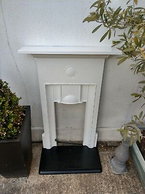 Beautiful Original Victorian Cast Iron Fireplace Complete with Mantle & Hearth