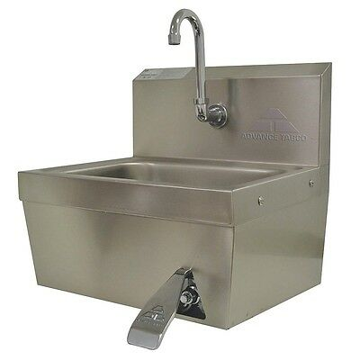 ADVANCE TABCO Stainless Steel Hand Sink, With Faucet, Wall Mounting - 7-PS-30