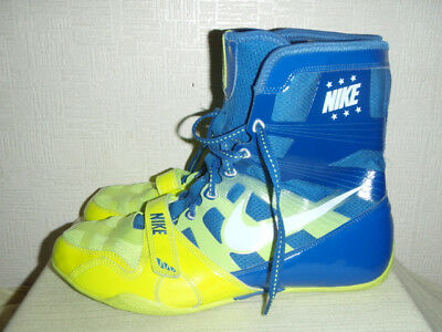 Mens Blue/lime Nike Flywire Hyperko Boxing Boots Size 12.5. Used