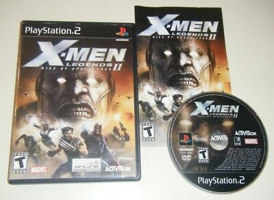 X-Men Legends II: Rise of Apocalypse COMPLETE GAME for Playstation 2 PS2 VG 2 BL