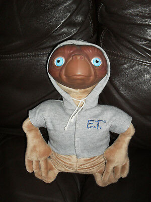 Vintage E.T. Extra Terrestrial Made By Applause - Hard Face Synthetic Body