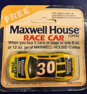 Maxwell House Collectible Race Car, Promotional Product, Kraft, Toy Cars, 1990