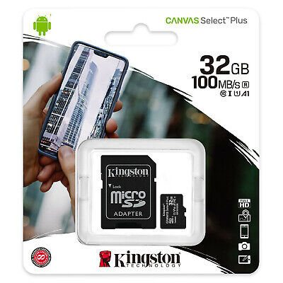 Carte Mémoire 32 Go Micro SD SDHC KINGSTON - Existe aussi en 8 16 64 ou 128 Gb