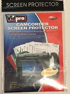 Vidpro Camcorder Screen Protector Hl-406 Brand New In Package