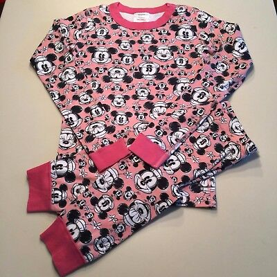 """HANNA ANDERSSON Girl's Pink """"MICKEY MOUSE"""" Pajama Set, 10-12 years,150 cm NEW!!"""