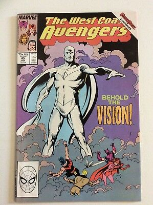 West Coast Avengers #45 (1989) 1St White Vision Infinity War Spec! Free S/h