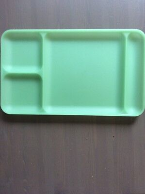 Tupperware Vintage Dinner TV Tray Divided Picnic Plate green