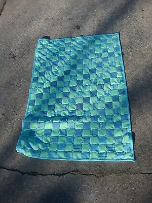 Handmade Baby Quilt Coverlet Blanket - Beautiful Turquoise & Blue! Never Used!