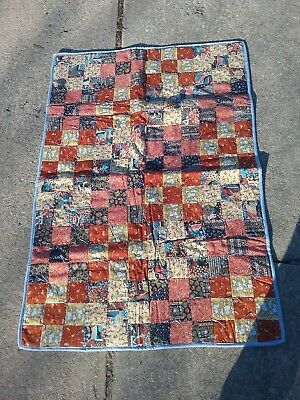 Handmade Baby Quilt Coverlet - Beautiful Multi Colored Square Patch! Never Used!