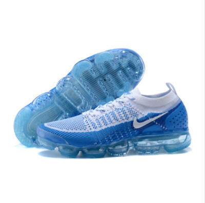 NIKE AIR VaporMax Air Max 2018 Men's Running Trainers Shoes - Blue and white