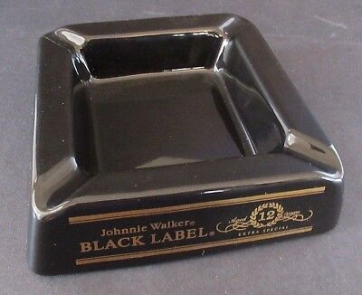 Vintage Johnnie Walker Black Label Ceramic Ashtray Ash Tray 5""
