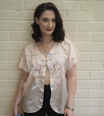 Vintage Night Gown Top Small Medium