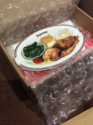 Genuine Supreme Chicken Dinner Plate Ashtray (SS18) - Brand New and Boxed