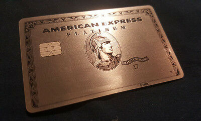 American Express Credit Charge Card Metal Platinum Amex Centurion Silver