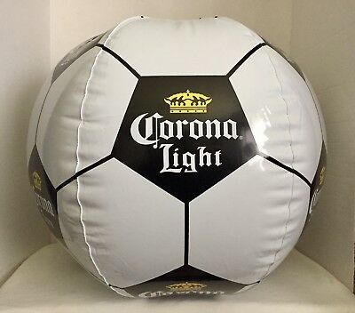 CORONA LIGHT Large Inflatable Soccer Ball - Black, White & Gold - New and Sealed