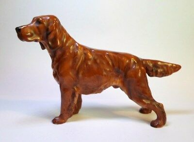 Royal Doulton IRISH SETTER DOG FIGURINE HN 1056 Hand Painted Bone China England