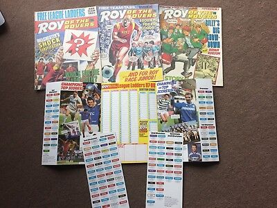 1987 Roy Of The Rovers Comics X 3 + League Ladders Free Gifts