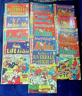 Lot of 13 Archie Comic Books Riverdale High, Joke Book & more  Lot #4