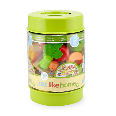Toys R Us Just Like Home Dinner Foods Toys 80pc Kitchen Play Set