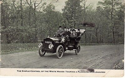 White Automobile Touring Car, Ad for Auto Show, Postmarked 1908   N