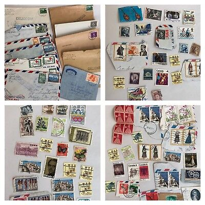 Lot Of Vintage Used Foreign Postage Stamps Egypt Asian Argentina Philippines +