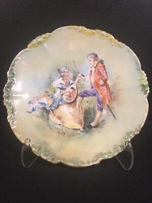 Antique Limoges Hand Painted Signed Plate ~ JPL France ~ Jean Pouyat 1890-1932