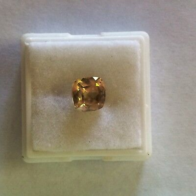 2.65ct Champagne Zircon Cushion Loose Gemstone All Natural And Untreated