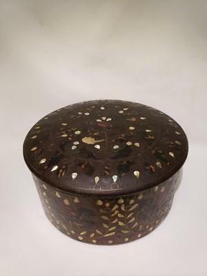 RARE! ANTIQUE 1700's-1800's KOREAN JOSEON TORTOISE SHELL, MOP & WIRE LACQUER BOX
