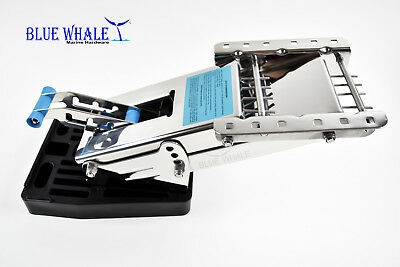 BLUE WHALE Strong Durable Stainless-Steel Outboard Motor Bracket Up To 20 HP USA