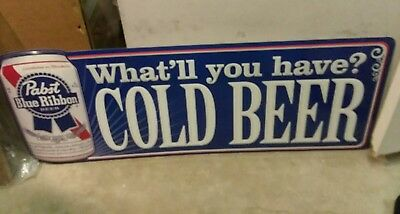 """PABST BLUE RIBBON SIGN *NEW* LARGE SIZE  39 1/2"""" x 14 1/2"""""""