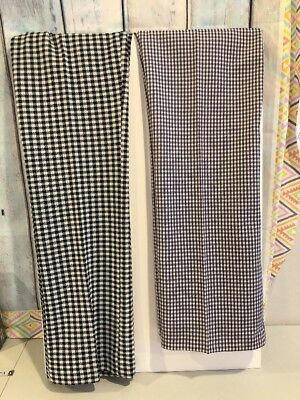 Women's  VTG Pants 70's Checkered Bootcut Dress Casual Size 8 NWT LOT of 2
