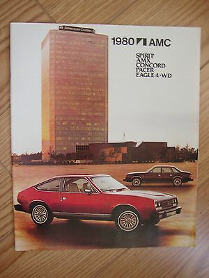 Original 1980  80 Amc Nos Showroom  Brochure Spirit Concord Pacer Amx Eagle 4-Wd