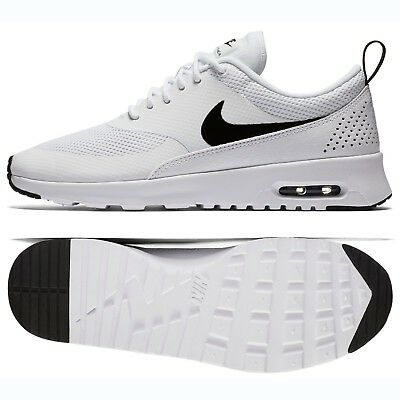 Nike WMNS Air Max Thea 599409-103 White Black Mesh Women s Running Shoes 78c236421